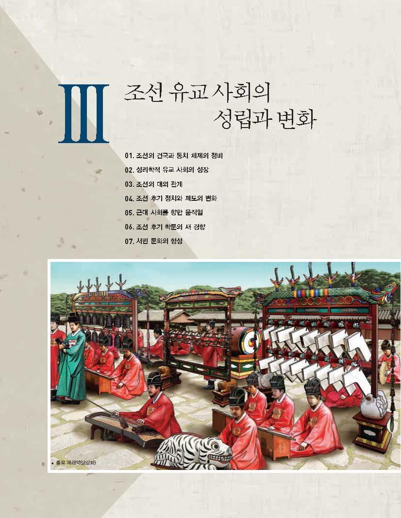3.조선 유교 사회의 성립과 변화 제목 이미지