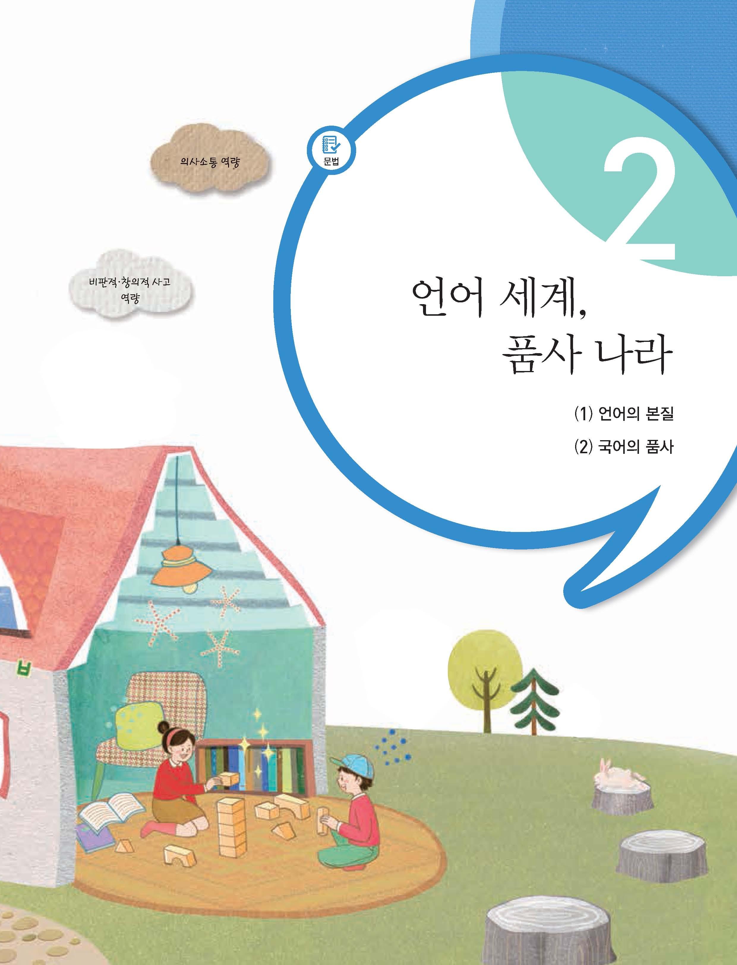 2.언어 세계, 품사 나라 제목 이미지