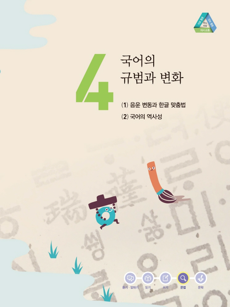 4.국어의 규범과 변화 제목 이미지