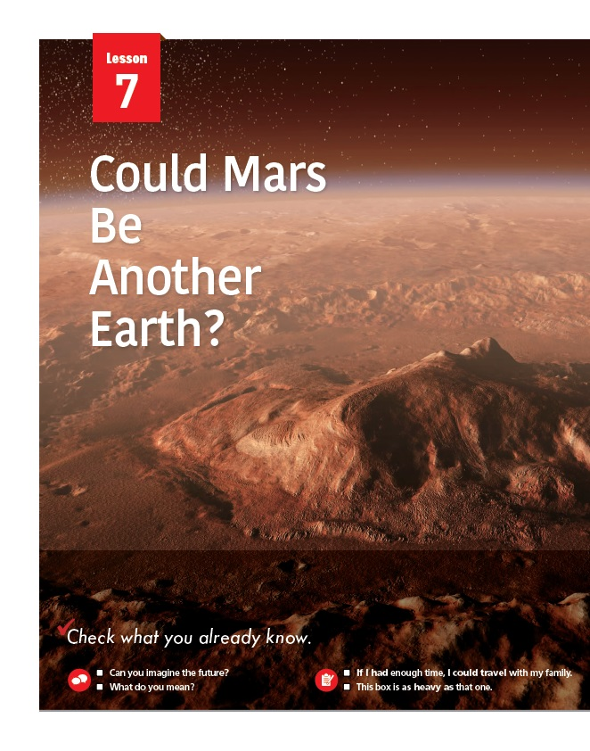 7.Could Mars Be Another Earth?  제목 이미지